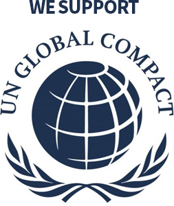 we support - UN Global Compact 로고